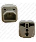 International Adapter C14 Male Plug to Multiple Female