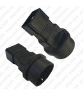 C20 Male to Schuko CEE7/7 Female Connector Block Adapter - Black