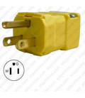 Hubbell HBL5965VY NEMA 5-15 Male Plug - Valise, Yellow