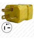 Hubbell HBL5464VY NEMA 6-20 Male Plug - Valise, Yellow