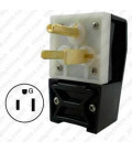 Hubbell HBL9368 NEMA 6-50 Angled Entry Male Plug