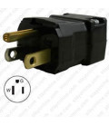 Hubbell HBL5965VBLK NEMA 5-15 Male Plug - Valise, Black