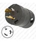 HUBBELL HBL2311VBK NEMA L5-20 Male Plug - Valise, Black