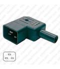 AC Plug IEC 60320 C20 Male Left Angle 16 Amp 250 Volt Straight Entry