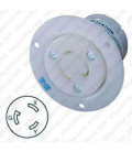 Hubbell HBL2326 NEMA L6-20 Flanged Female Outlet - White