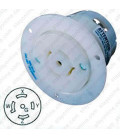 Hubbell HBL2516 NEMA L21-20 Flanged Female Outlet - White