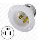 Hubbell HBL5278C NEMA 5-15 Male Inlet - White