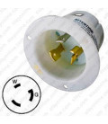 Hubbell HBL2615 NEMA L5-30 Male Inlet - White