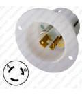 Hubbell HBL4716C NEMA L5-15 Male Inlet - White