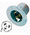 HUBBELL CS8375 AC Flanged Inlet CA STD 50a 3-Phase 250 Volt Male