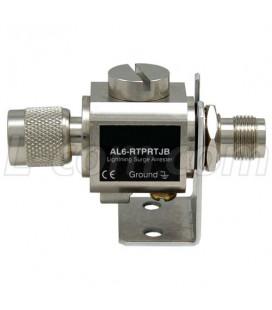 Protector de Descargas Altelicon 0-6 Ghz RPTNC Hembra Bulkhead y Macho