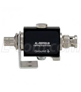 Protector de descargas 0-3Ghz, RPBNC Hembra a RPBNC Macho Bulkhead