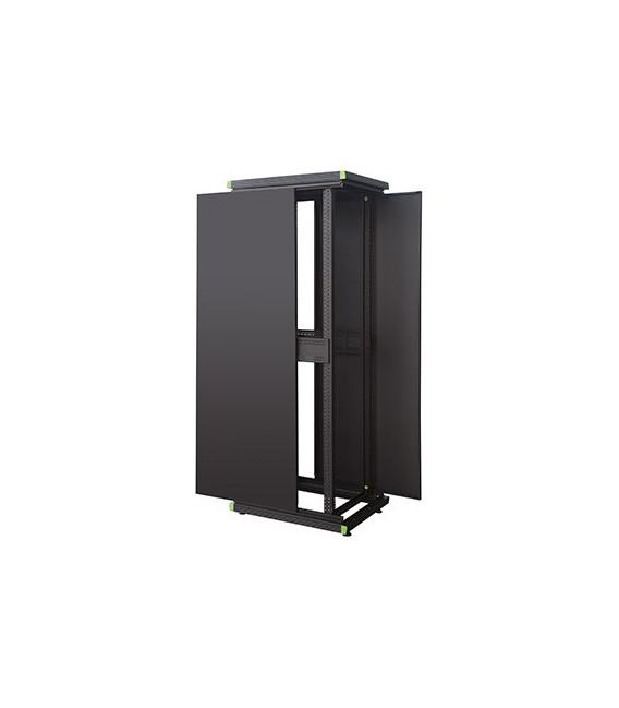 """Armario Rack 19"""" Reto 24U, 600x600x1196 Puerta de cristal FLAT-PACK"""