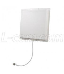 Antena Patch angosta 14 dBi, 30°, N hembra
