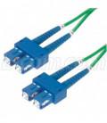 9/125, Single Mode Fiber Cable, Dual SC / Dual SC, Green 4.0m