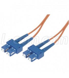 9/125, Single Mode Fiber Cable, Dual SC / Dual SC, Orange 15.0m