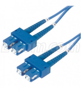 9/125, Single Mode Fiber Cable, Dual SC / Dual SC, Blue 5.0m