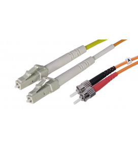 Cable 2 mts., ST to LC, Duplex Multimode Fiber Optic, OM1 62.5/125