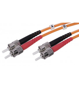Cable F.O. 2Mts - ST/ST -62.5/125-MM-2.8mm-LSZH- GRIS
