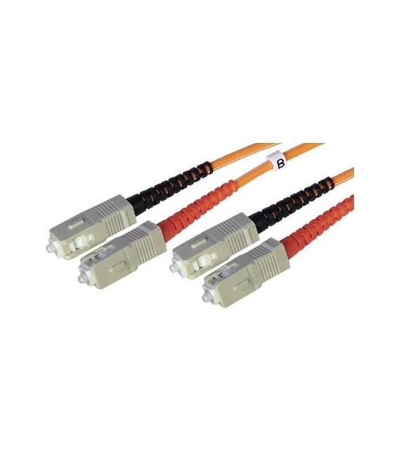 Cable F.O. 5Mts - SC/SC -62.5/125-MM-OD2.8mm-LSZH- NARANJA
