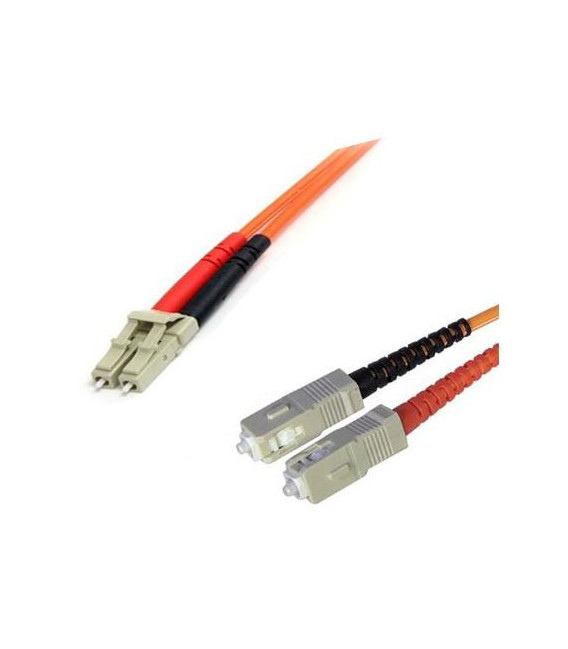 Cable F.O. 5Mts - LC/SC -62.5/125-MM-OD2.8mm-LSZH- NARANJA