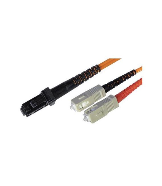 Cable F.O. 3Mts - MRTJ/SC -62.5/125-MM-OD1.8mm-LSZH- NARANJA