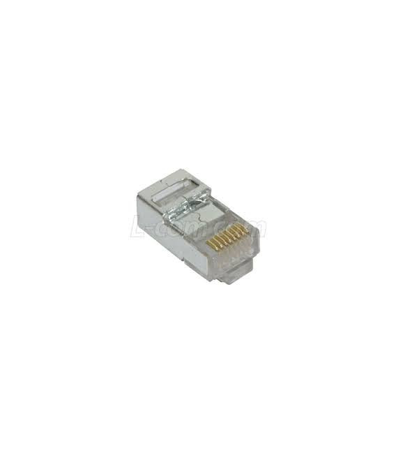 Modular Plug, RJ45(8x8) Category 5/5E Shielded, Pkg/50