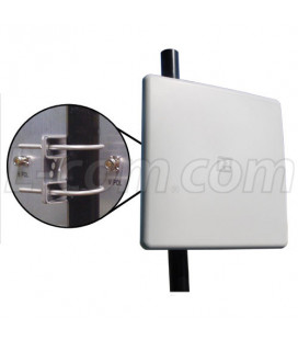 Panel direccional 2.4 Ghz 16dbi doble Polaridad con conectores N Hembra