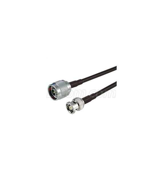 Cable CA-195 de 50 cms con conectores BNC macho a N Macho