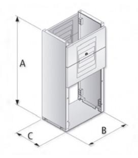 Zócalo para BRES-54 1000x365x170