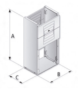 Zócalo para BRES-64 1000x365x200