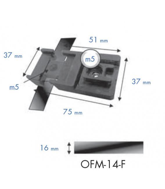 Oreja fijación a poste mediante fleje (conjunto 4 ud.)