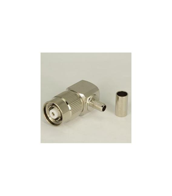 Conector RPTNC Plug acodado 90º para cable LMR-195