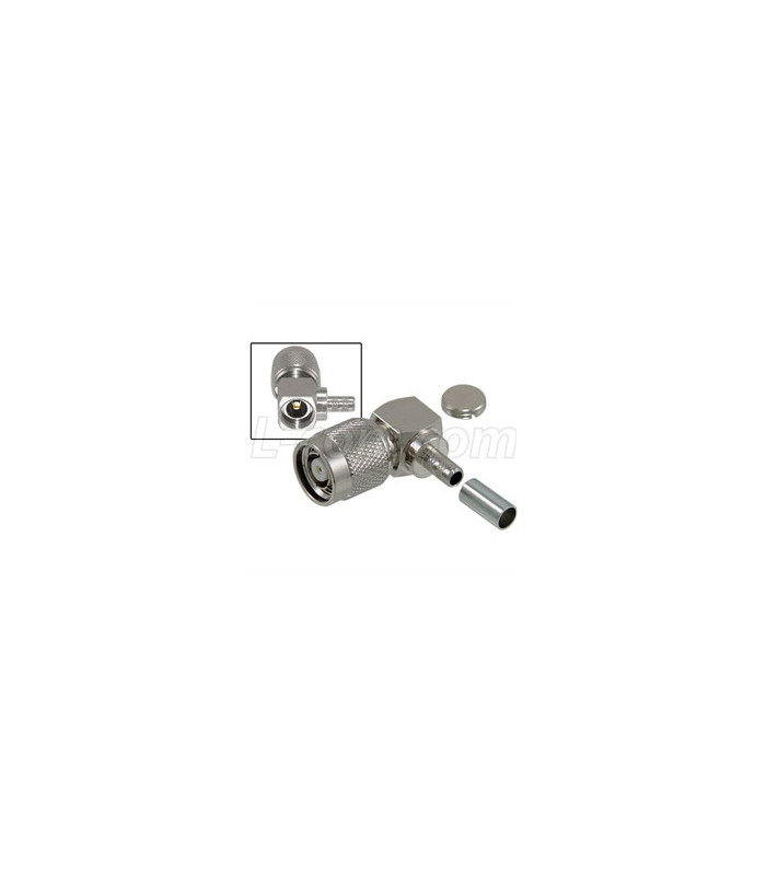 Rp Tnc Crimp Plug Right Angle For Rg58 195 Series Cable