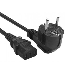 Cable 1.2 mtrs Euro Schuko plug to IEC 320 C13 female