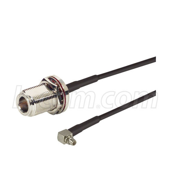N-Female Bulkhead to MMCX, 100-Series Cable