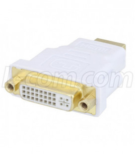 DVI Adapter, DVI-D Female to HDMI Male color White