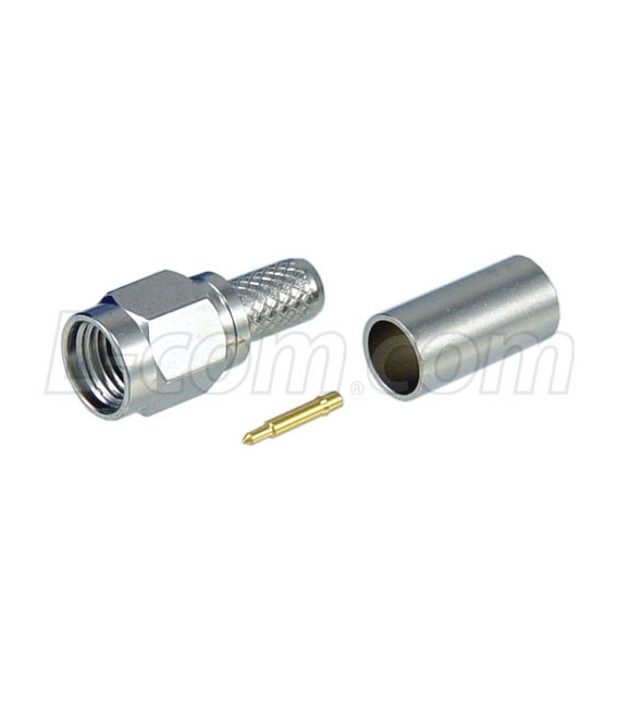 SMA Male Crimp for 195-Series Cable