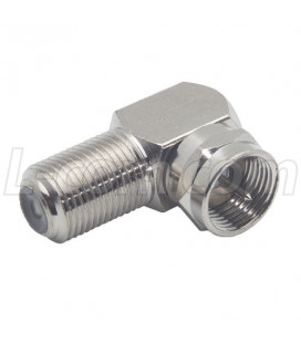 Coaxial Adapter, F Female / F Male, Right Angle